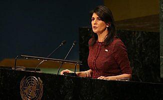 Haley'den BM'nin kararına karşı oy kullanan ülkelere resepsiyon