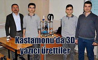 Kastamonu'da liseli öğrenciler üç boyutlu yazıcı ürettiler
