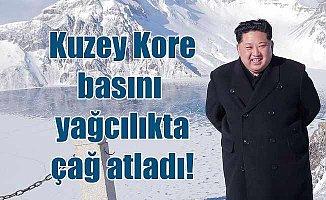 Kium Jong, hava durumunu kontrol ediyormuş!