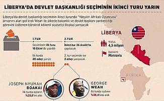 Liberya'da devlet başkanlığı seçiminin ikinci turu yarın