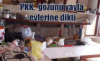 PKK, kışlık erzağını yayla evlerinden çalmış