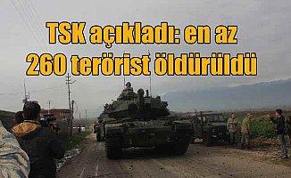 Afrin operasyonunda kaç terörist öldürüldü; TSK açıkladı...