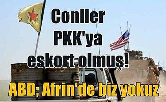 Amerika'dan Afrin yorumu; Afrin'de biz yokuz!