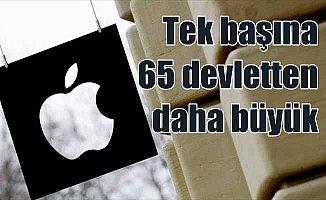 Apple,  tek başına 65 devletten daha büyük