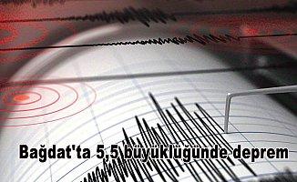 Bağdat'ta 5,5 büyüklüğünde deprem