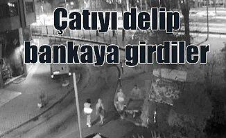 Bahçelievler'de banka çatıdan girerek soyan çete yakalandı