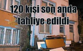 Bursa'da 120 kişi tahliye edildi; Toprak kayması korkuttu
