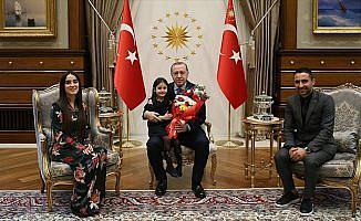 Cumhurbaşkanı Erdoğan 4 yaşındaki Irmak'ı kabul etti