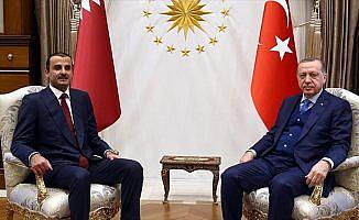 Cumhurbaşkanı Erdoğan ile Katar Emiri Al Sani görüştü