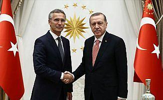 Cumhurbaşkanı Erdoğan, Stoltenberg ile Suriye'yi görüştü