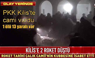 Flaş...Flaş...Flaş... PKK roketi cami vurdu, 2 ölü 13 yaralı var