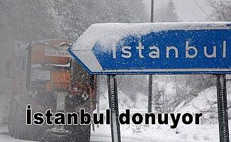 İstanbul donuyor