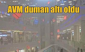 Kayseri'de AVM'de yangın paniği: AVM boşaltıldı