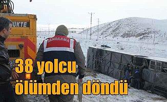 Konya yolunda 38 yolcu ölümden döndü