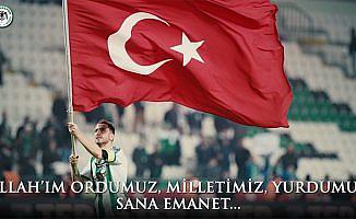 Konyaspor'dan 'Mehmetçik' kıyafeti ile Afrin duası