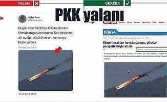 Malezya'da düşen akrobasi uçağını 'Afrin' diye paylaştılar