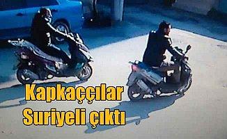 Motorsikletli kapkaççılar polisten kaçamadı