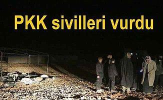 PKK'lı teröristler Afrin'den sivilleri vurdu