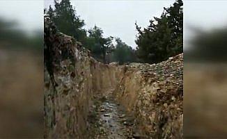 PYD/PKK'nın Afrin'de ele geçen mevzileri görüntülendi