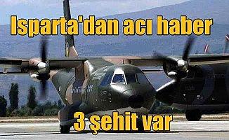 Son Dakika, Isparta'da eğitim uçağı düştü, 3 şehit var