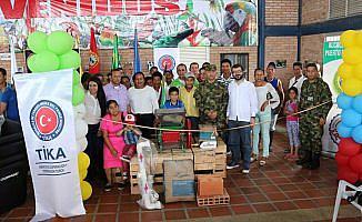 TİKA'dan Kolombiya'da tarım ekipmanı desteği