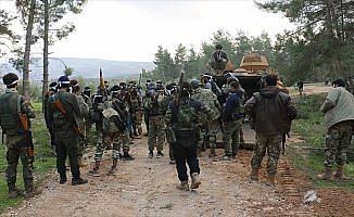 Afrin'de ele geçirilen terör kampındaki çatışmayı AA görüntüledi