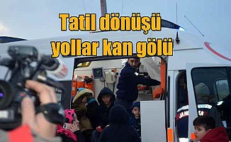 Balıkesir'de çifte kaza, 16 yaralı var