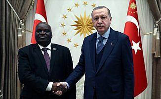 Cumhurbaşkanı Erdoğan, Burundi Meclis Başkanı kabul etti