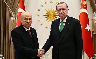 Erdoğan, MHP Genel Başkanı Bahçeli'yi kabul etti