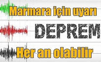 İstanbul için deprem uyarısı; Her an 7 üstü deprem olabilir