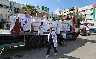 Katar'dan Gazze'ye 9 milyon dolarlık yardım