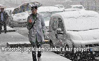 Meteoroloji açıkladı,İstanbul'a kar geliyor!