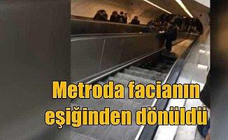 Metro'da faciadan dönüldü; Maslak metrosunda yürüyen merdiven çöktü