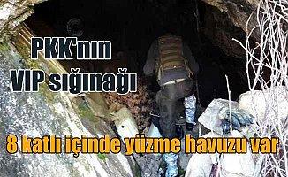PKK'nın VIP sığınağı: 8 katlı mağarada yüzme havuzu çıktı