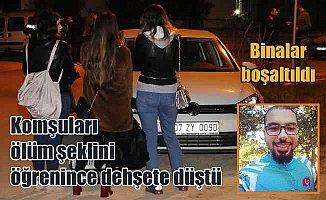 Antalya'da siyanür paniği; Siyanürlü intiharın ardından binalar boşaltıldı....