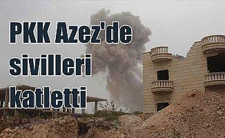 Terör örgütü PKK Afrin'den Azez'deki sivilleri füzeyle vurdu