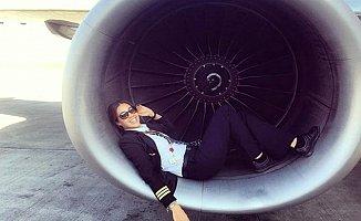 Türk bayan pilotun paylaşımları sosyal medyayı salladı
