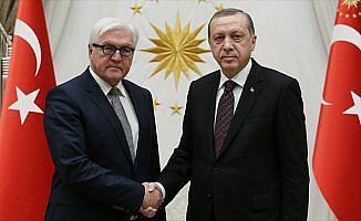 Cumhurbaşkanı Erdoğan ile Almanya Cumhurbaşkanı Steinmeier görüştü