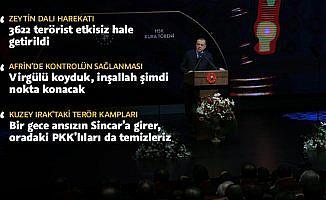 Cumhurbaşkanı Erdoğan: Virgülü koyduk, inşallah şimdi nokta konacak