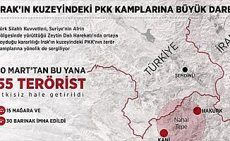 Irak'ın kuzeyindeki PKK kamplarına büyük darbe