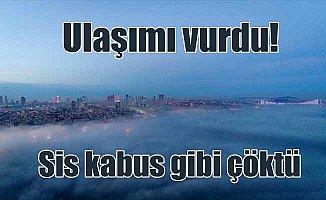 İstanbul Boğazı'nda sis: Vapur seferleri iptal, Marmaray'da izdiham
