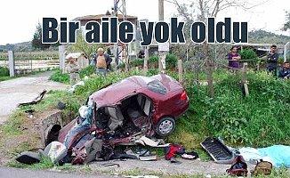 Manisa Salihli'de feci kaza; Anne - Baba ve bebek yok oldu