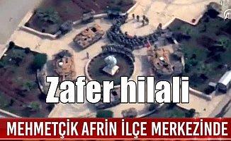 Mehmetçik'ten Afrin'de zafer kutlaması