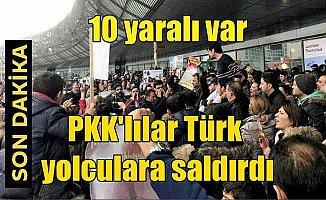 PKK/YPG yandaşları, Türk yolculara saldırdı: 10 yaralı var