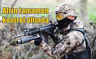 TSK açıkladı: Afrin tamamen kontrol altında