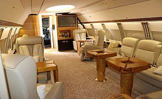 Altın kaplama uçağın bakımı Onur Air Teknik'ten