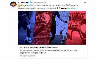 Barcelona'dan Beşiktaş paylaşımı