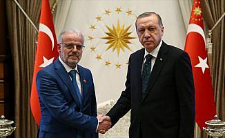 Cumhurbaşkanı Erdoğan, Makedonya Meclis Başkanı Caferi'yi kabul etti