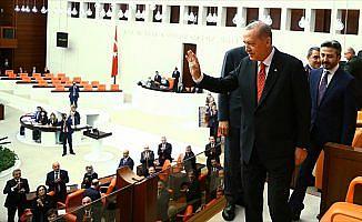Cumhurbaşkanı Erdoğan TBMM özel oturumuna katıldı