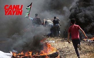 Gazze'de 'Büyük Dönüş Yürüyüşü'nde üçüncü cuma